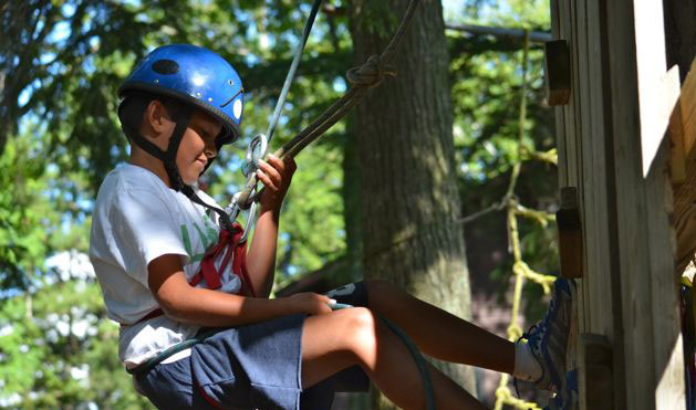 Adventure is a great place for the younger boys to gain confidence.